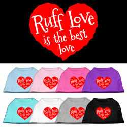 Ruff Love Screen Print Pet Shirt