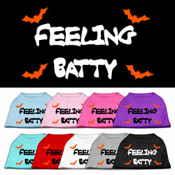 Feeling Batty Screen Print Pet Shirts