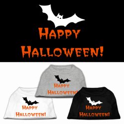 Happy Halloween Screen Print Pet Shirts