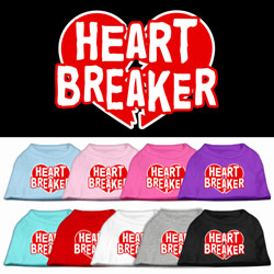 Heart Breaker Screen Print Pet Shirts