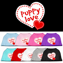 Puppy Love Screen Print Pet Shirts