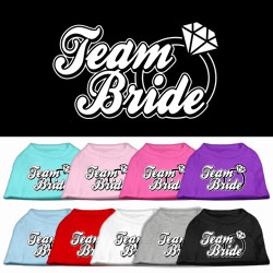 Team Bride Screen Print Pet Shirt