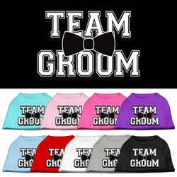 Team Groom Screen Print Pet Shirt