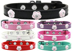 Light Pink Rose Widget Dog Collars