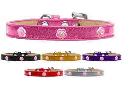 Bright Pink Rose Widget Ice Cream Dog Collars
