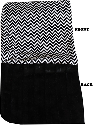Luxurious Plush Itty Bitty Baby Blanket Black Chevron
