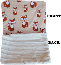 Luxurious Plush Itty Bitty Baby Blanket Foxy