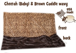 Brown Cheetah Itty Bitty Baby Blanket