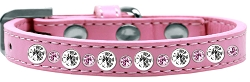 Posh Jeweled Dog Collar Light Pink Size 14