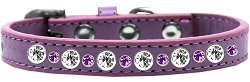 Posh Jeweled Dog Collar Lavender Size 16