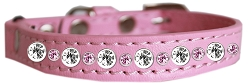 Posh Jeweled Cat Collar Light Pink Size 10