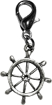Captain's Wheel Lobster Claw Charm