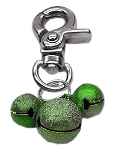 Lobster Claw Bell Charm Emerald Green .