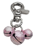 Lobster Claw Bell Charm Light Pink .