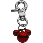 Lobster Claw Bell Charm Red .
