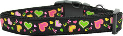 Neon Love Nylon Dog Collars