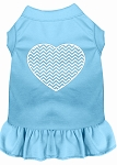 Chevron Heart Screen Print Dress Baby Blue XS (8)