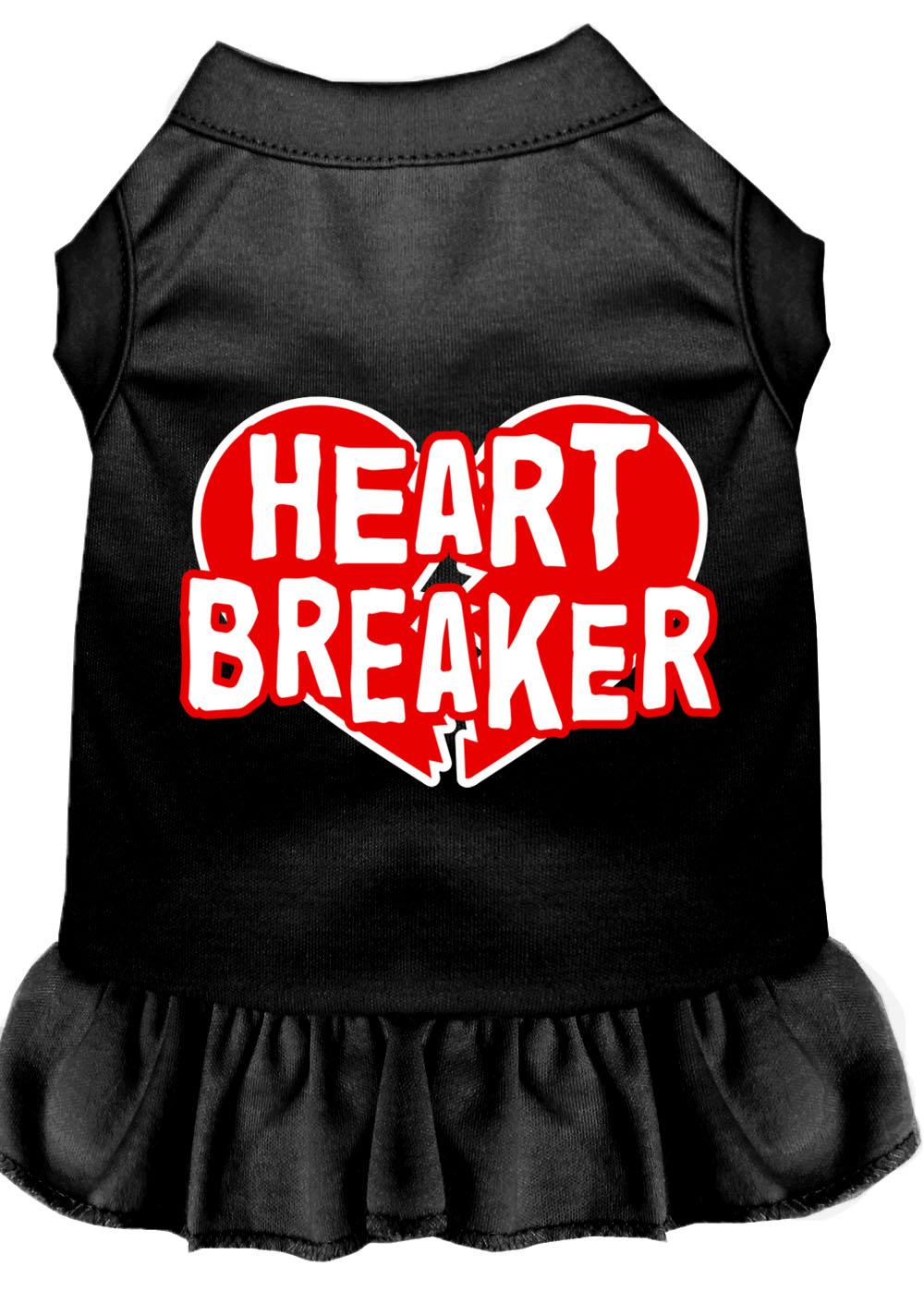 Heart breaker screen print dress black xxl 18 for Xxl 18 xxl 2012 black