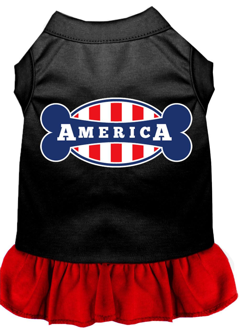 Bonely in america screen print dress black with red xxl 18 for Xxl 18 xxl 2012 black
