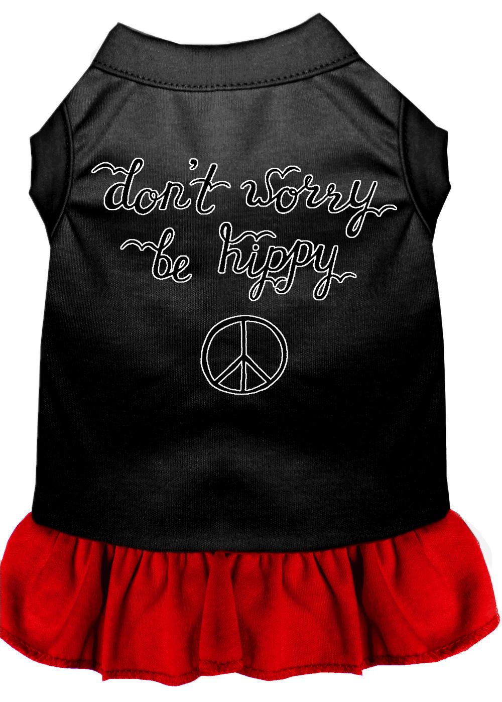 Be hippy screen print dog dress black with red xxl 18 for Xxl 18 xxl 2012 black