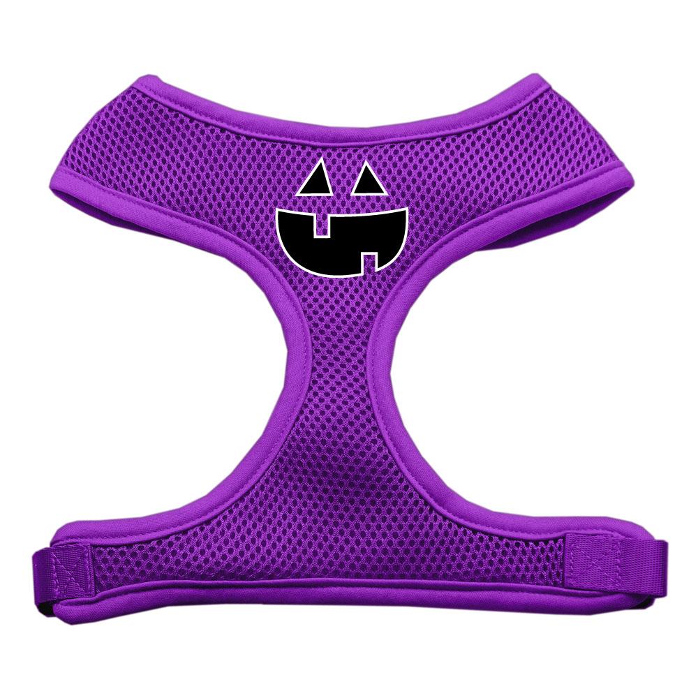 Pumpkin Face Design Soft Mesh Harnesses Purple Small