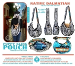 Puppy Pouch Sling Native Dalmatian