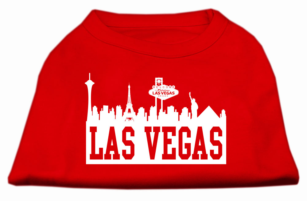 Las vegas skyline screen print shirt red xxl