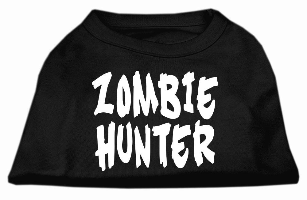 Zombie hunter screen print shirt black xxl 18 for Xxl 18 xxl 2012 black