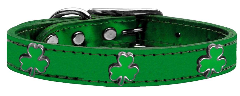 Shamrock widget genuine metallic leather dog collar for Sofa bed 92870