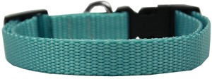 Plain Nylon Dog Collar SM Ocean Blue