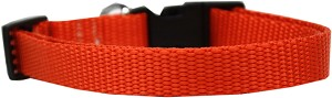 Plain Nylon Dog Collar SM Orange