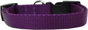 Plain Nylon Dog Collar MD Purple