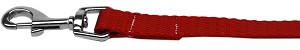 Plain Nylon Pet Leash 1in by 6ft Red