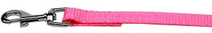 Plain Nylon Pet Leash 1in by 6ft Hot Pink