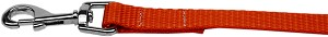 Plain Nylon Pet Leash 1in by 4ft Orange