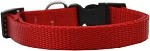 Plain Nylon Cat Safety Collar Red
