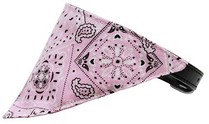 Light Pink Western Bandana Pet Collar Black Size 16
