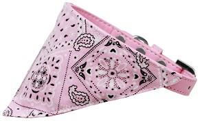 Light Pink Western Bandana Pet Collar Light Pink Size 10