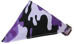 Purple Camo Bandana Pet Collar Lavender Size 20