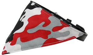 Red Camo Bandana Pet Collar Black Size 14
