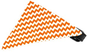 Orange Chevron Bandana Pet Collar Black Size 16