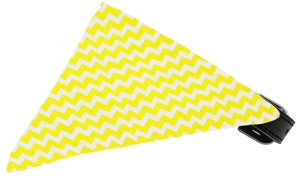Yellow Chevron Bandana Pet Collar Black Size 12