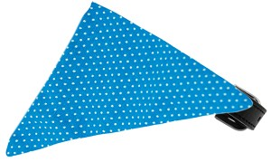Aqua Swiss Dots Bandana Pet Collar Black Size 10