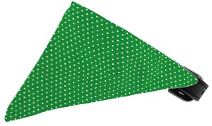 Emerald Green Swiss Dots Bandana Pet Collar Black Size 18