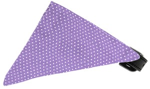 Lavender Swiss Dots Bandana Pet Collar Black Size 20