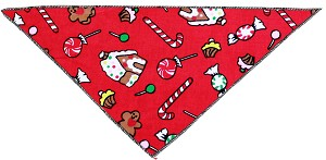 Candy Land Tie-On Pet Bandana Size Large