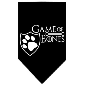 Game of Bones Screen Print Bandana Black Small