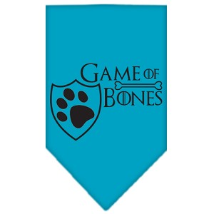 Game of Bones Screen Print Bandana Turquoise Large