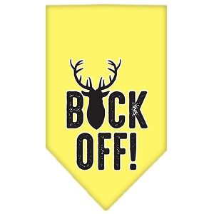 Buck Off Screen Print Bandana Yellow Large