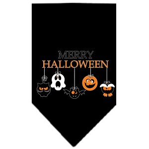 Merry Halloween Screen Print Bandana Black Small